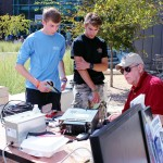 Dick shows off HF radio's usefulness for long distance communications