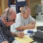 Pat, K5AHE, and Jerry, W5AJD, work CW. CW contacts made up 60% of our QSOs.