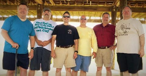 (L-R) Todd AB5TH, Leonard W5ZDW, Jon WA9JBR, Robin KK5RH, Brook N5DGK, Daniel N5KHM