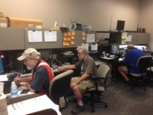 Handling shelter requests in the Red Cross Comm Room