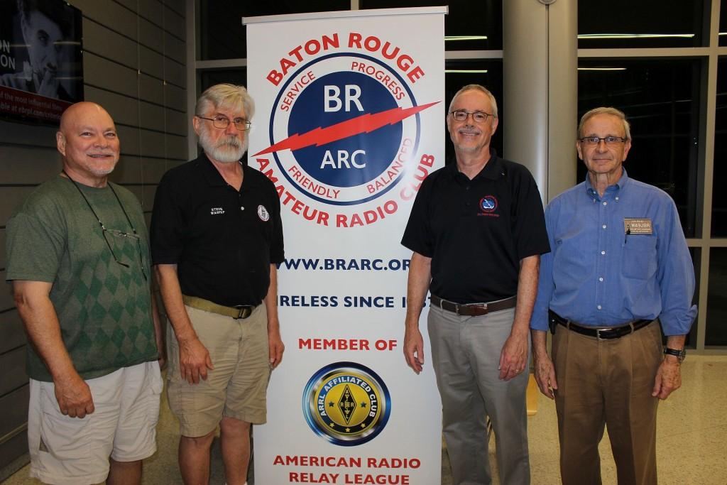 Mike Nolan, KD5MLD; Steve Irving, WA5FKF; Frank Revitte, National Weather Service; and Jon Reise, WA9JBR
