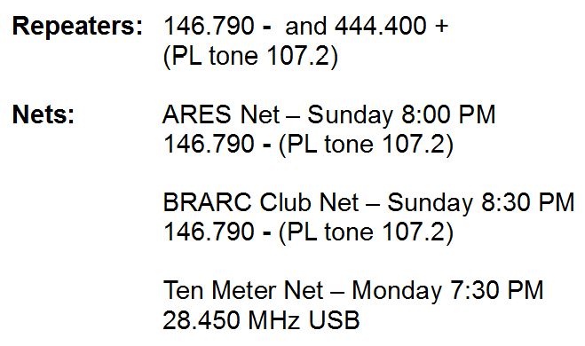 Repeater and net frequencies