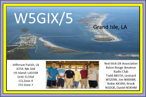 QSL IOTA Grand Isle