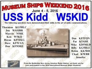 certificate museum ships