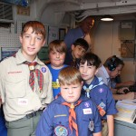 A cub scout den from Crowley, LA with Ken Shutt, W5KQ and Mike Nolan, KD5MLD operating